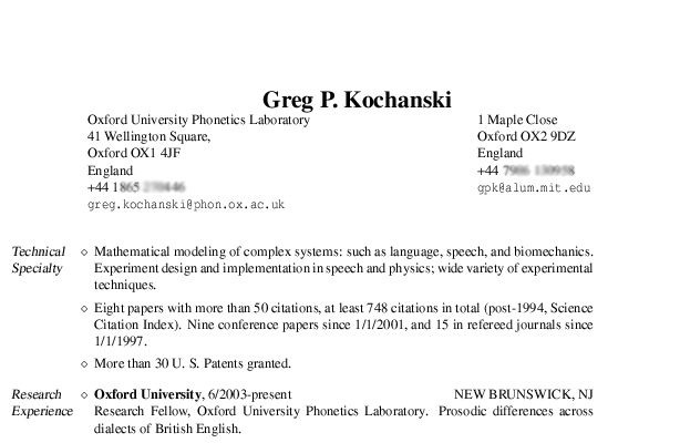 examples of resume. The other files are examples.